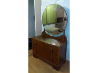 Vintage Dressing Table With Mirror/ Chest of drawer Can deliver