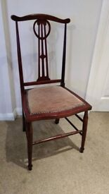 Antique Arts and Crafts Mahogany Chair