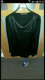 Designer zara leather cutout top tunic long sleeved s 8