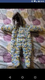 M&S baby snowsuit 0-6 months