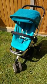 QUINNY BUZZ SROLLER, CARRY COT AND EXTRAS VGC