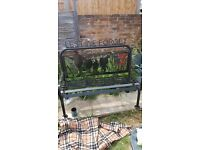 Poppy war memorial bench.