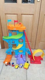 Happy Land & Little People Wheelies Loops & Swoops Playset Inc Other Figures & Cars