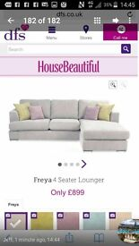 6 month old sofa from dfs, brand new condition and comes with the matching storage puff.