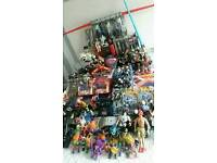 Huge collection of vintage toys STAR WARS POWER RANGERS WRESTLING HOTWHEELS TROLLS BATMAN ACTION MAN