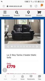 La-Z-boy charcoal 2 and 3 seater sofas