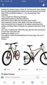 Voodoo Candzo Downhill bike Great condition all details in pictutre