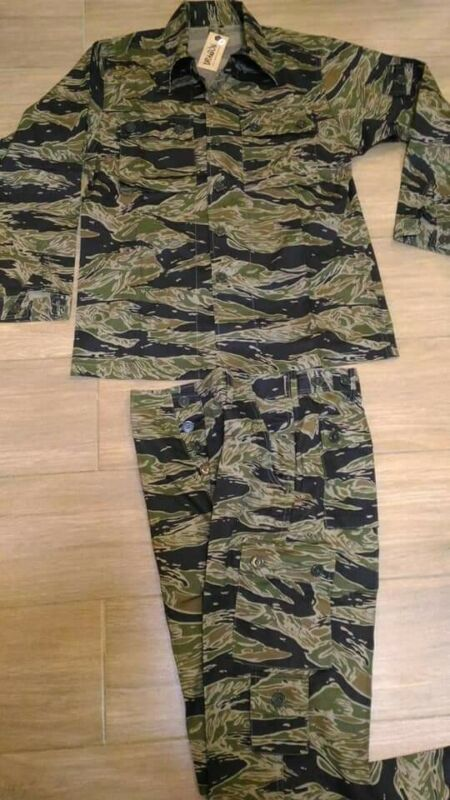 Reproduction Vietnam War Type Tiger Stripes in Tadpole Sparse Pattern, All sizes