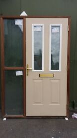 Double glazed composite doors