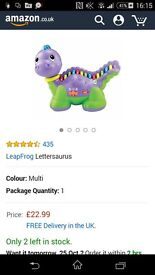 Vtech lettersarus learning toy colours songs