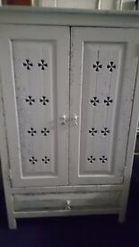 Grey/White Rustic TV Cabinet