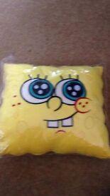 Spongebob Squarepants Plush Cushion 35cm SQUARE ** Brand New ** REDUCED