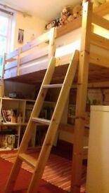 solid pine single cabin bed