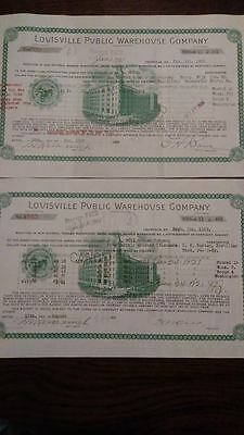 Prohibition Era Whiskey Storage Receipts Louisville Public Warehouse Bourbon
