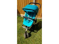 QUINNY BUZZ STROLLER, CARRY COT & WITH EXTRAS VGC