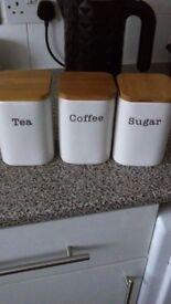 tea,coffee,sugar jars