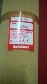 brand new roll of cowley cane gold action backed carpet