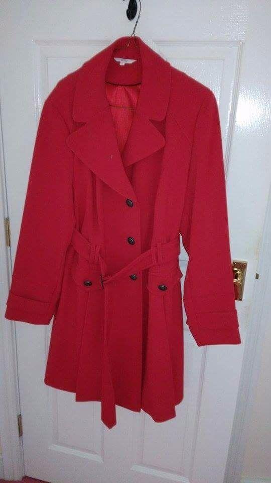 Ladies size 20 red coat