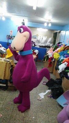 Dino The Flintstones Maskottchen Kostüm Party Charakter Halloween Lila ()