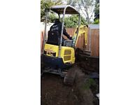 BMS Groundworks Man and machine hire Mini Micro digger and dumper hire Landscaping and groundworks