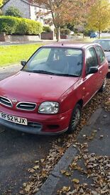 Nissan Micra 1.0 3dr with low mileage