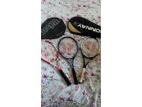 Three supurb tennis rackets for sale