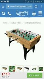 2 months old 4ft by 2ft football table