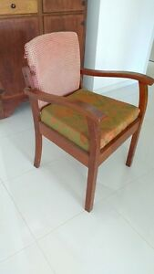 Vintage silky oak gossip chair Redlynch Cairns City Preview