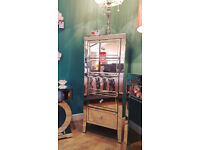 Brand New Condition Ex Display Beautiful 5 Drawer Mirrored Tall Boy Chest. Viewing Available