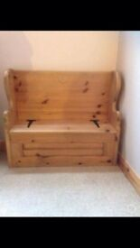 Kids Monks Bench with storage base