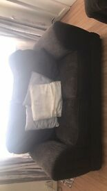 2x 2 seater couches black