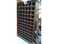 72 bottle solid wood wine rack very solid piece of furniture