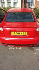 Limited edition Audi A4 saloon red