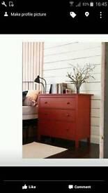 Ikea Hemnes red chest of draws