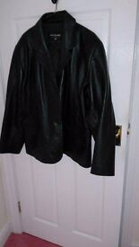 Ladies size 22 black leather jacket