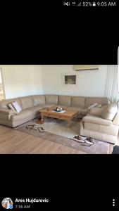excellent condition leather sofa Sans Souci Rockdale Area Preview