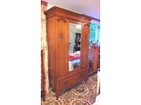 antique oak wardrobe brilliant original condition