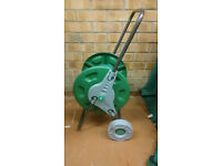 HOSE PIPE REEL HOLDER TROLLEY CART GARDEN