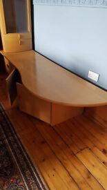 TV TABLE & GLASS DISPLAY UNIT 51 RONDO Hammel Syd MADE IN DENMARK A/S HAMMEL MOBELFABRIK