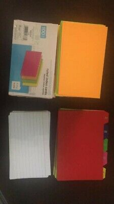 3x5 Ruled Index Cards 785 Color 190 White Dividers Sealed