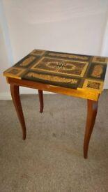 Vintage 1950's Italian Jewellery Box /Table