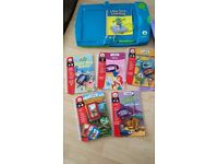 leap frog leap pad games good working condition with case