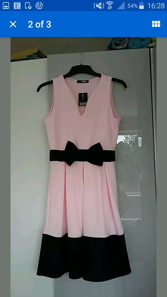 Quiz Size 10 Pink & Black 'as new' Dress