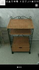 Wicker bathroom /bedroom unit