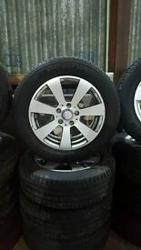 "GENUINE 16"" MERCEDES 5x112 ALLOY WHEELS + TYRES (Great for Winter Wheels) Will fit VW, Audi, Seat"