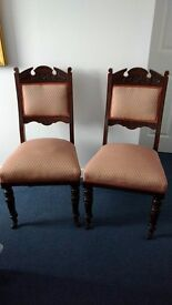 4 x Victorian / Edwardian Dining Chairs.