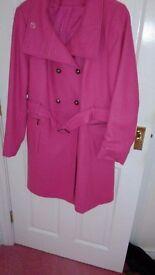Ladies size 18 pink coat