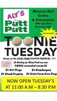 Toonie Tuesdays At Aly's Mini Putt