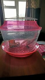 FOR SALE PINK FISH TANK