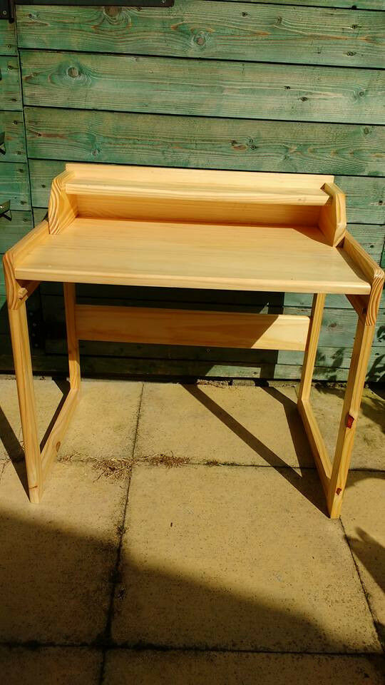 Child's Wooden Desk and Chair set